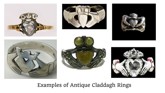 Antique Claddagh Rings 1690 - 1890