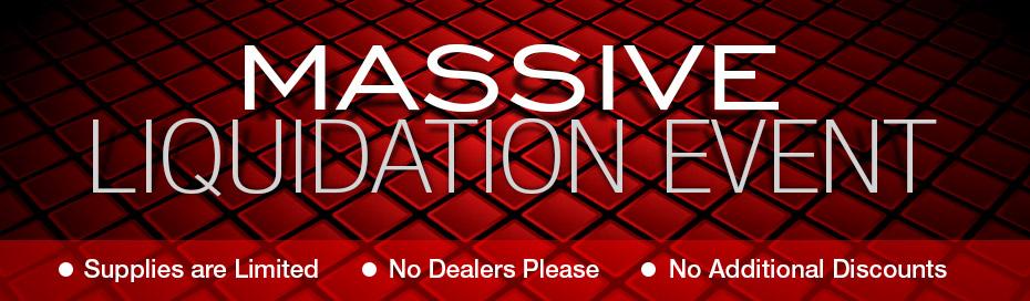 Clearance liquidation sale for Super liquidation
