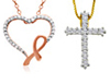 CROSS AND HEART NECKLACES