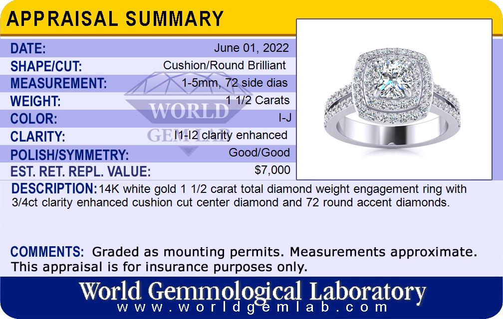 c4e4892b87359 Halo Engagement Rings | 1.50 Carat Halo Engagement Ring With A 3/4 ...