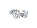Diamond Stud Earrings: 1/10ct Diamond Stud Earrings in 10k White Gold