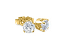 Diamond Stud Earrings: 1/10ct Diamond Stud Earrings in 10k Yellow Gold