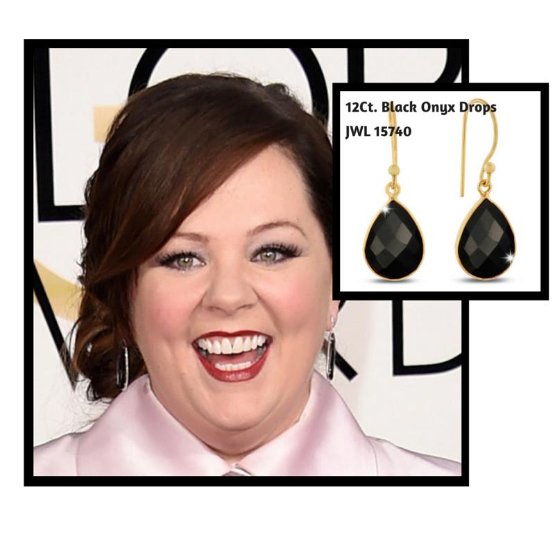 12Ct. Black Onyx Pear Shaped Drops #melissamccarthy #goldenglobes #superjeweler (1)