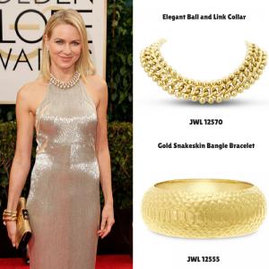 Elegant Ball and Link Collar #naomiwatts #goldenglobes #superjeweler