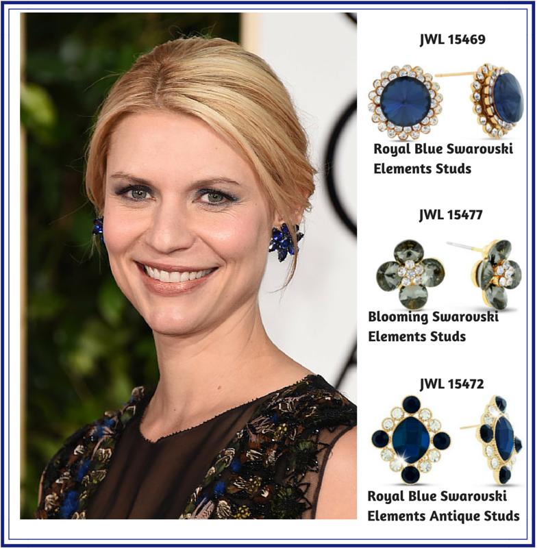 Swarovski Elements Studs #clairedanes #goldenglobes #superjeweler (1)