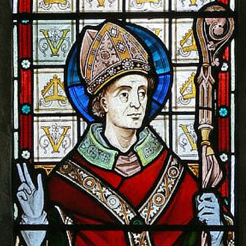 Stained Glass of St. Valentine
