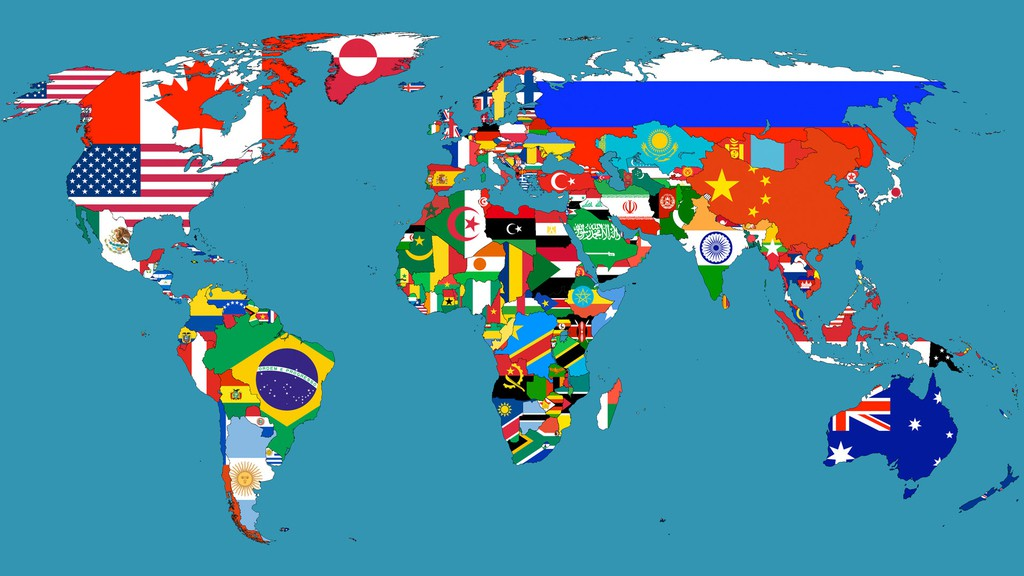International Shipping SuperJeweler Flag Map