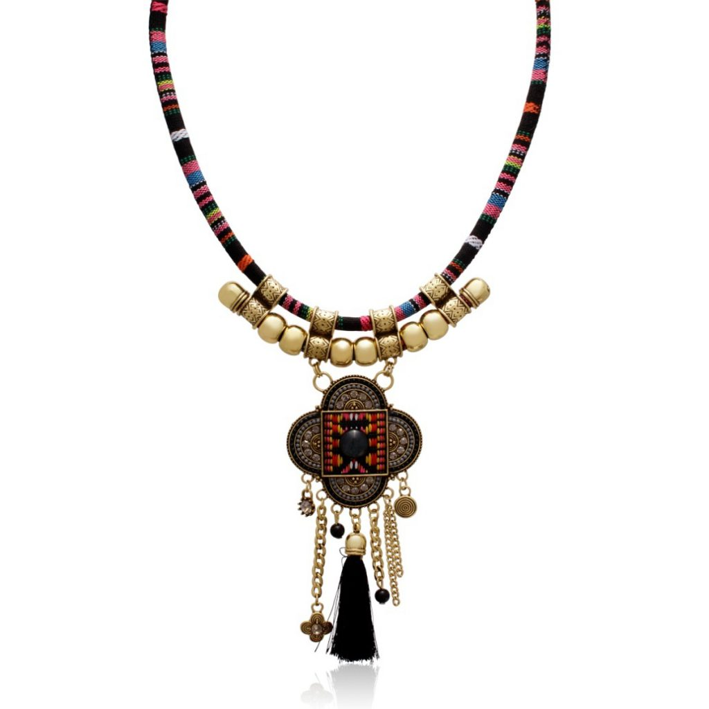 SuperJeweler's Tribal Tassel Necklace
