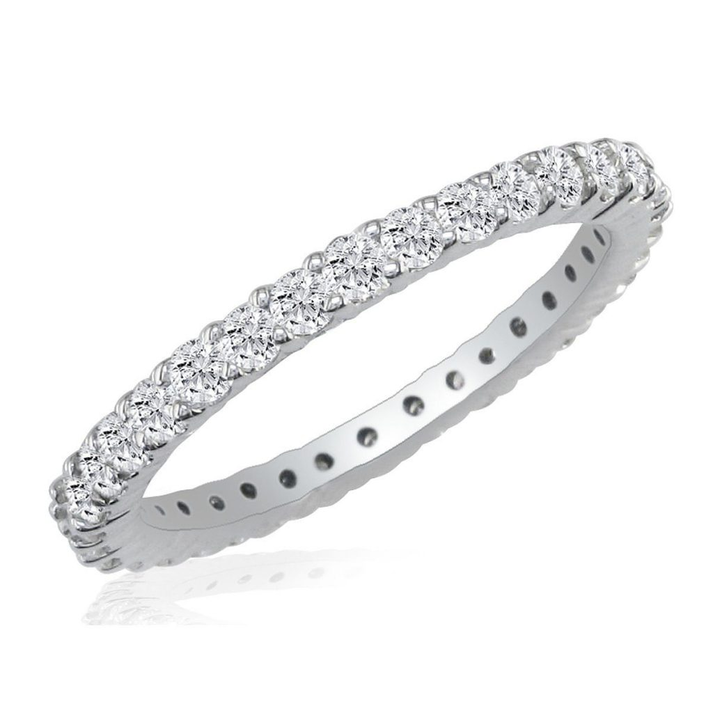 1/2 Carat Diamond Eternity Band in 14K White Gold