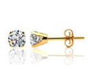 1ct Diamond Stud Earrings in 10k Yellow Gold