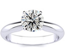 1 1/4ct Diamond Solitaire Engagement Ring Crafted In Solid 14 Karat White Gold