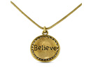 Gabby and Gia Believe Necklace In Gold, 18 Inches