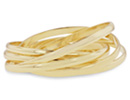 Set Of Six Gold Bangle Bracelets