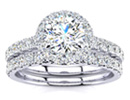 Diamond Bridal Sets: Gorgeous 1 1/2ct Pave Diamond Bridal Set in 14k White Gold