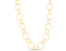 Gold Circle Sweater Necklace, 36 Inches