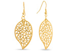 Antique Style Gold Leaf Earrings