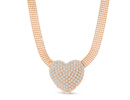 Swarovski  Elements Heart Choker Necklace In Gold, 17 Inches