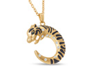 Swarovski  Elements Exotic Jaguar Necklace, 30 Inches