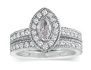 Diamond Bridal Sets: 1 1/2ct Marquise Diamond Bridal Set in 14k White Gold
