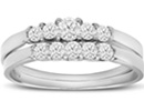Diamond Bridal Sets: 1/2ct Diamond Bridal Set With .12ct Center Diamond in 14k White Gold