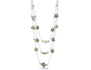 Fashionable Triple Strand Pearl and Mother of Pearl Necklace