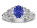 TanzaniteJewelry: Beautiful 1 1/2ct Tanzanite and Diamond Ring in 10k White Gold