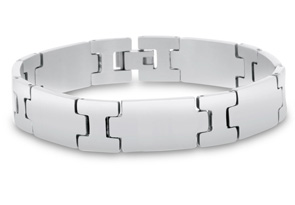 Unique Men's Stainless Steel Bracelet, 8 Inches
