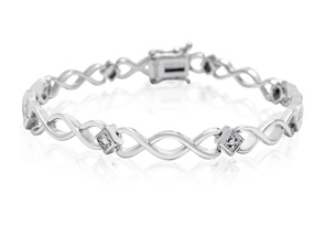 Gifts Under $20 Dainty Diamond Accent Bracelet Platinum Overlay 7 Inches $15 29 Shipped