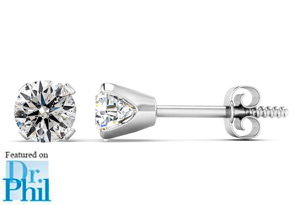 1/2ct Diamond Stud Earrings in 14k White Gold. Featured on Dr. Phil