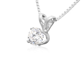 1/4 Carat Diamond Stud Earrings and Necklace