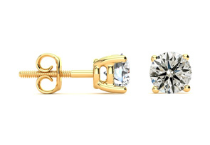 Great Deal on 1 1/2ct Diamond Stud Earrings In 14k Yellow Gold