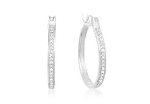 1/4 ct Diamond Hoop Earrings