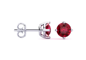 1/2ct Ruby Stud Earrings