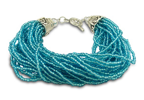Blue Glass Seed Bracelet