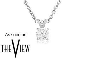 1/4ct Diamond Pendant in 14k White Gold
