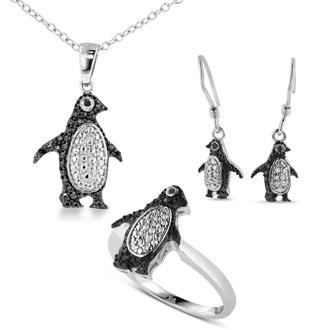 Diamond Penguin Necklace