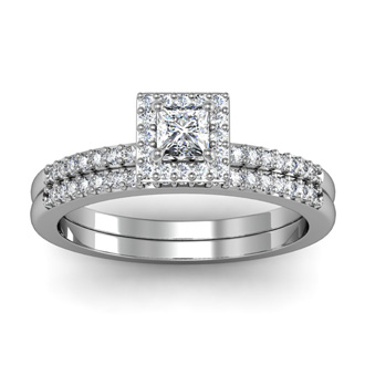 1/2ct Pave Diamond Bridal Set