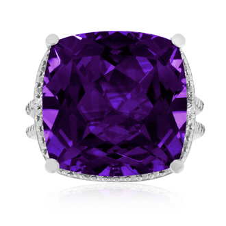 12ct Purple Amethyst Ring