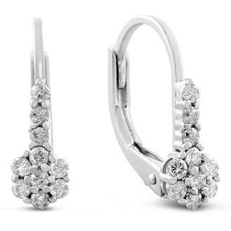 1/4ct Diamond Drop Earrings