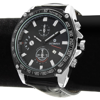 Octavius Men's Accelerate Watch - Black