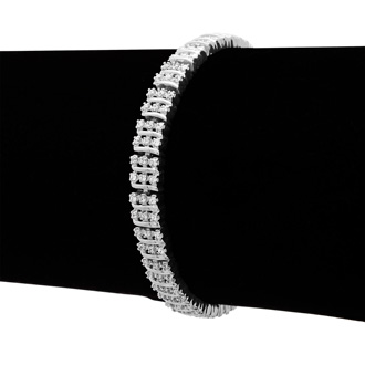 1ct Three Row Diamond Bracelet