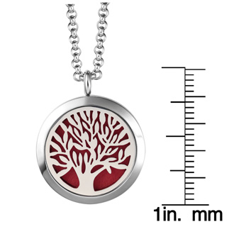 Hypoallergenic Tree Of Life Aromatherapy Essential Oils Diffuser Necklace, Pure Stainless Steel Craftsmanship