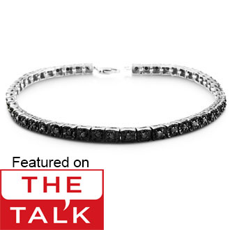 1ct Black Diamond Tennis Bracelet