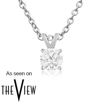 1/4ct White Gold Diamond Pendant