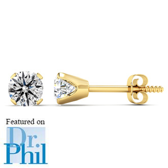 1 2ct Diamond Studs In 14k Yellow Gold