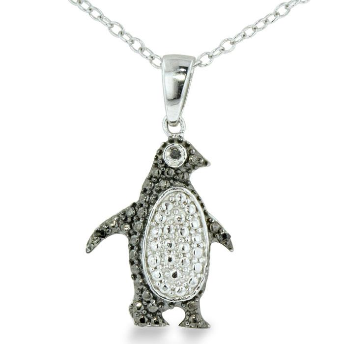 black penguin necklace superjeweler