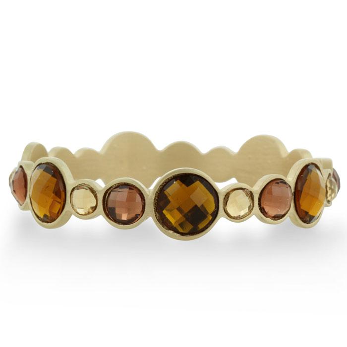 Bezel Gold Tone Bracelet