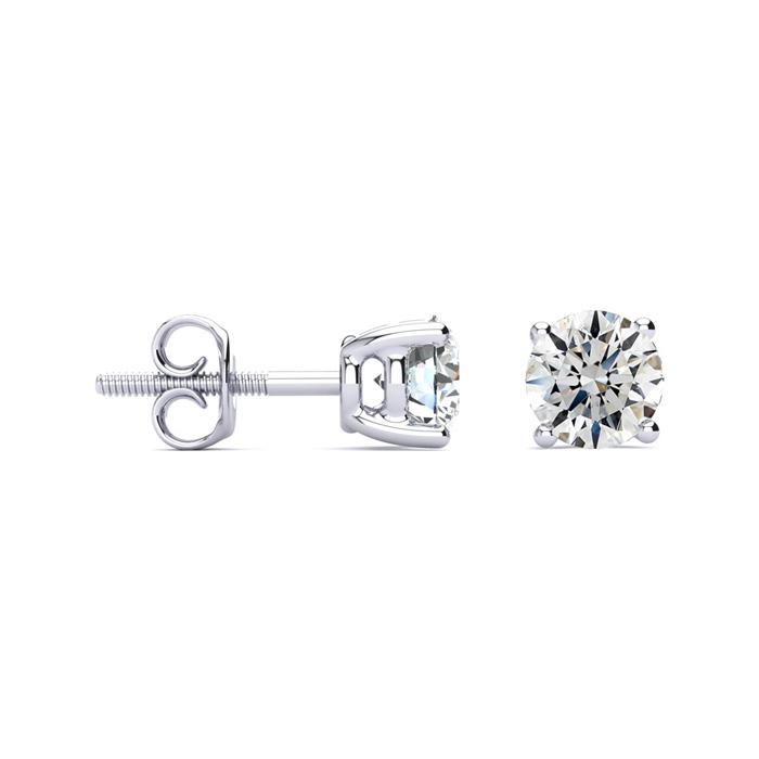 1 3/4ct G/H SI Round Diamond Stud Earrings In Platinum