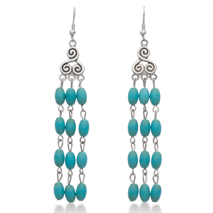trendy turquoise chandelier dangle earrings superjeweler