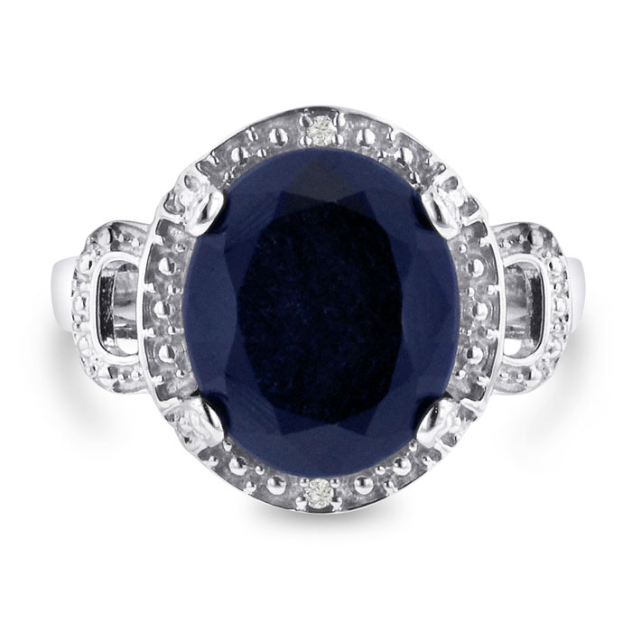 7ct Oval Sapphire and Diamond Ring